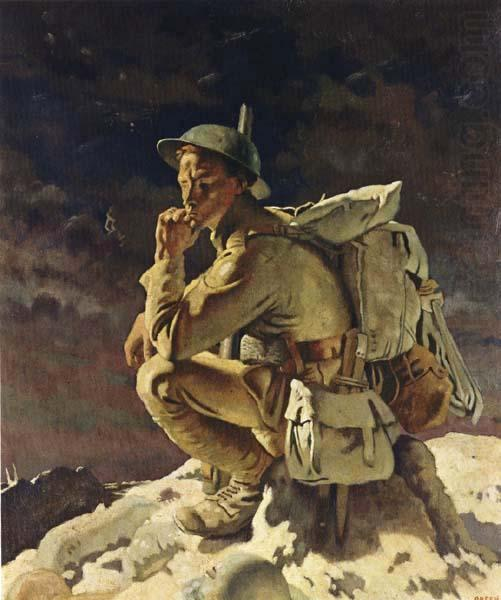 Il Pensatore, 1918 di William Newenham Montague Orpen (1878-1931, Ireland)