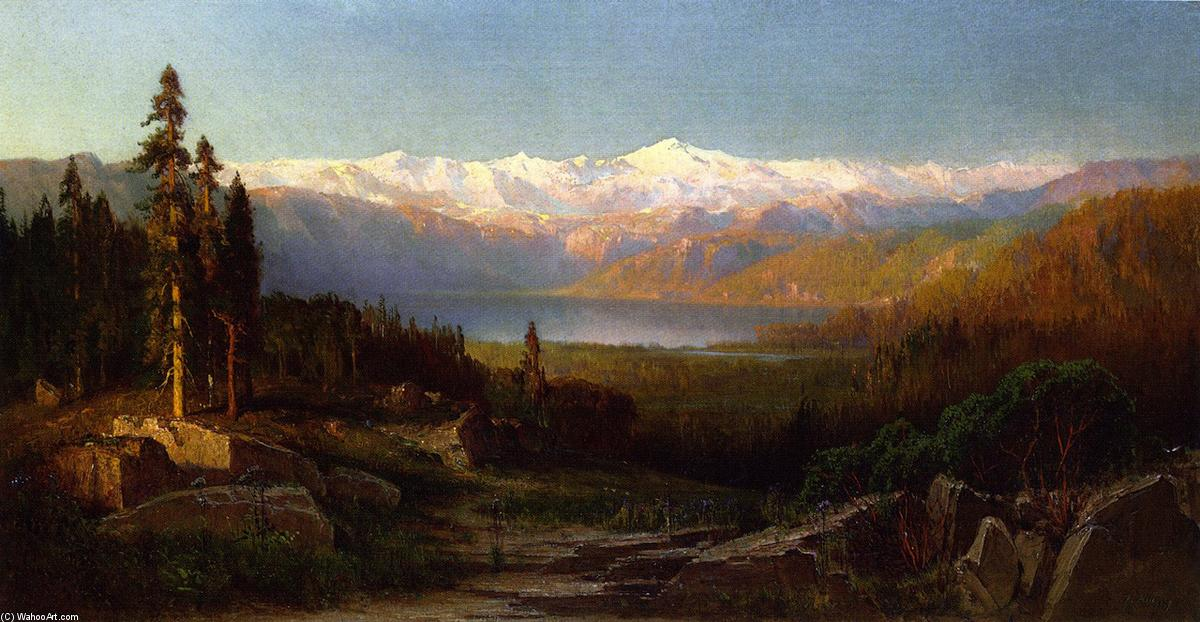 Visualizzare in i Sierra Nevada, olio su tela di Thomas Hill (1829-1908, United Kingdom)