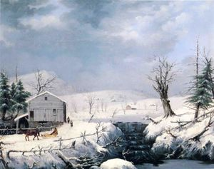 George Henry Durrie - in inverno Nuova York l'i..