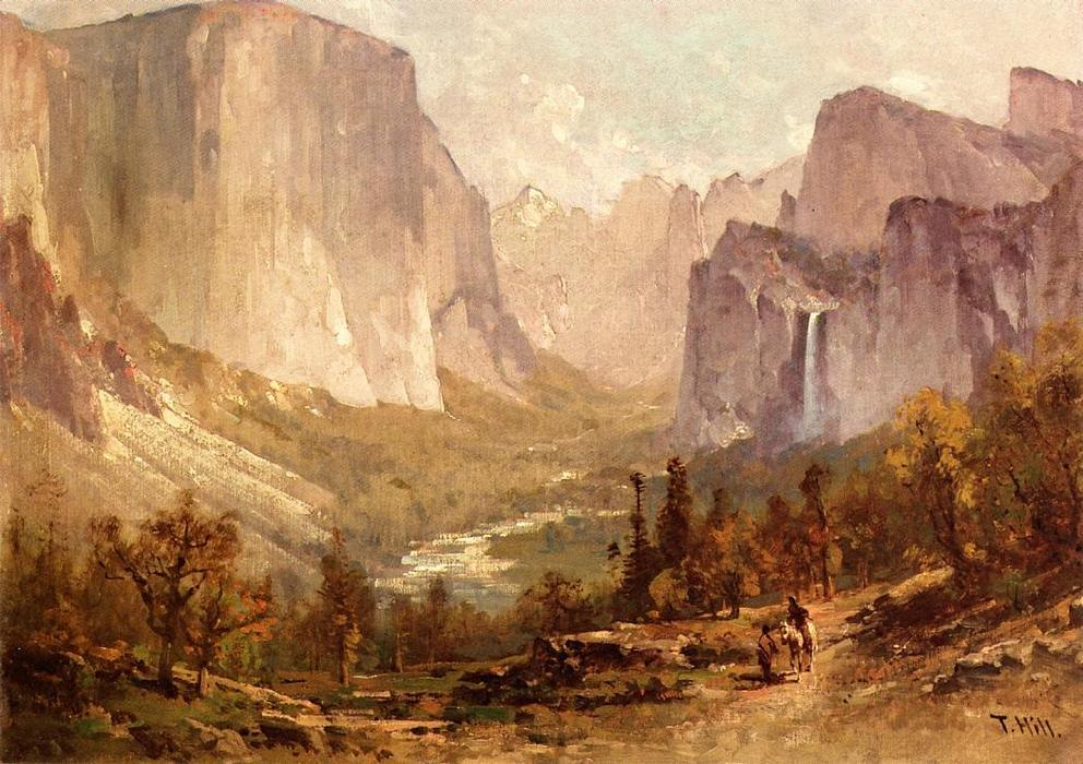 Yosemite Valley, olio su tela di Thomas Hill (1829-1908, United Kingdom)