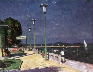 Istvan Boldizsar - The Pier At Foldvar