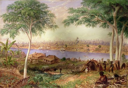 South Brisbane From The North Shore di Thomas Baines (1820-1875, United Kingdom)