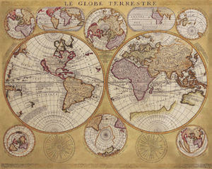 Vincenzo Maria Coronelli - Antique Map, Globe Terrestre