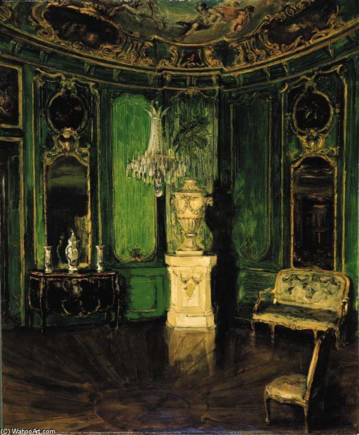 Intérieur Vert di Walter Gay (1856-1937, United States)