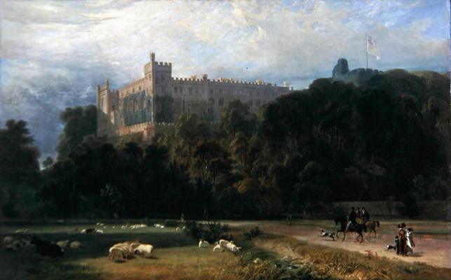 veduta di Arundel Castello dal South-east di Thomas And William Daniell (1769-1837, United Kingdom)