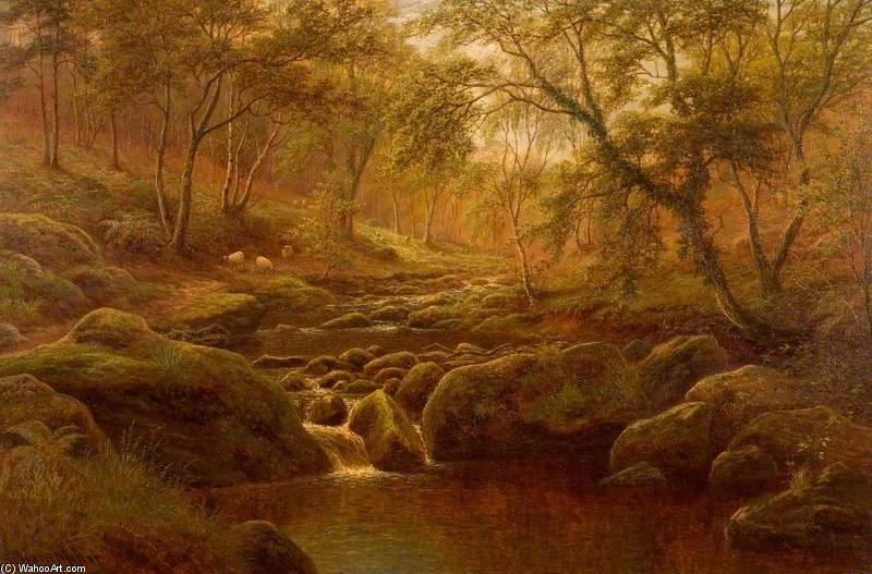 Oak Beck, Harrogate di William Mellor (1851-1931, United Kingdom)