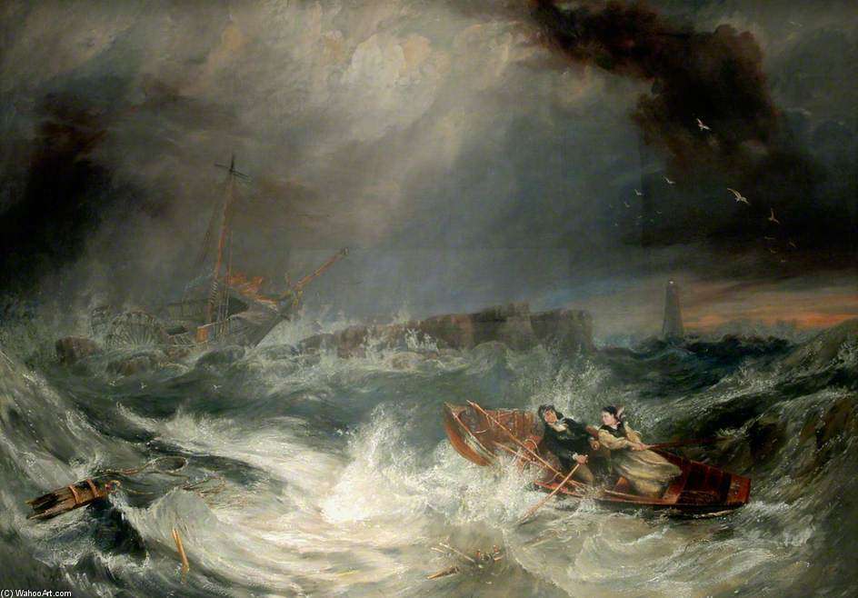 Grace Darling di John Wilson Carmichael (1800-1868, United Kingdom)