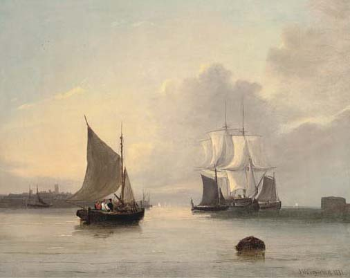 Off The Mouth Of The Humber di John Wilson Carmichael (1800-1868, United Kingdom)