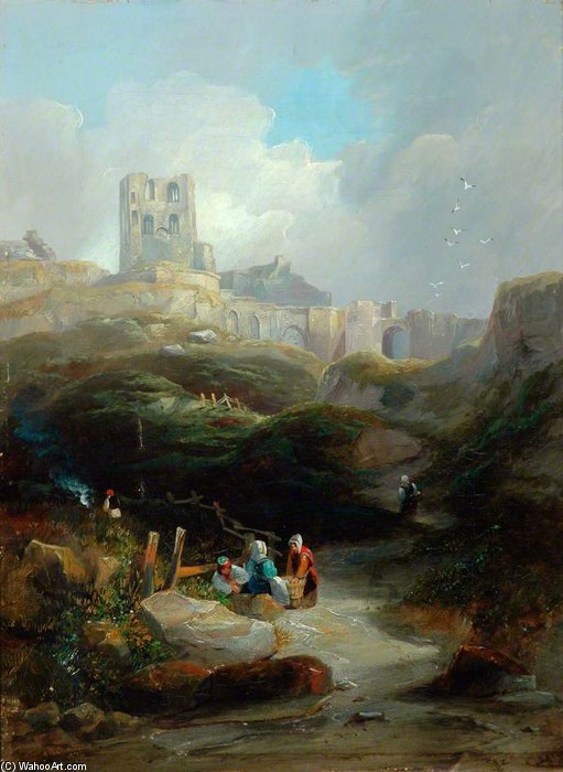 Castello di Scarborough di John Wilson Carmichael (1800-1868, United Kingdom)