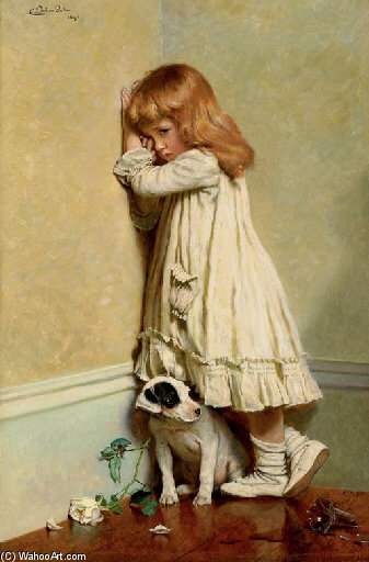 In Disgrace - di Charles Burton Barber (1845-1894, United Kingdom)