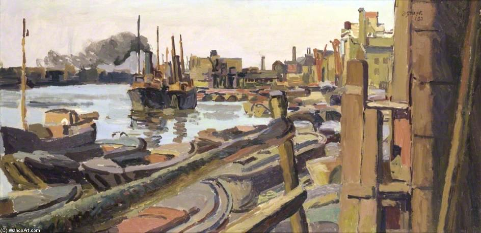 Rotherhithe, Londra di Duncan Grant (1885-1978, Scotland)