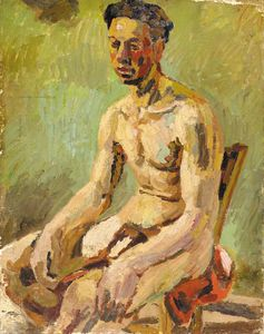 Duncan Grant - Maschio Seated Nude -