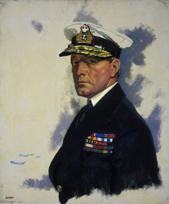 David Beatty di William Newenham Montague Orpen (1878-1931, Ireland) | Riproduzione Art | ArtsDot.com