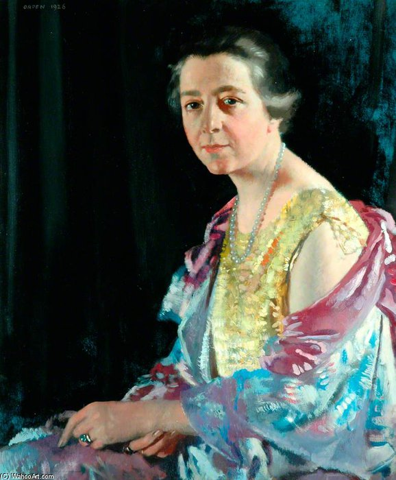 La signora Thomas Howarth di William Newenham Montague Orpen (1878-1931, Ireland) | Copia Pittura | ArtsDot.com
