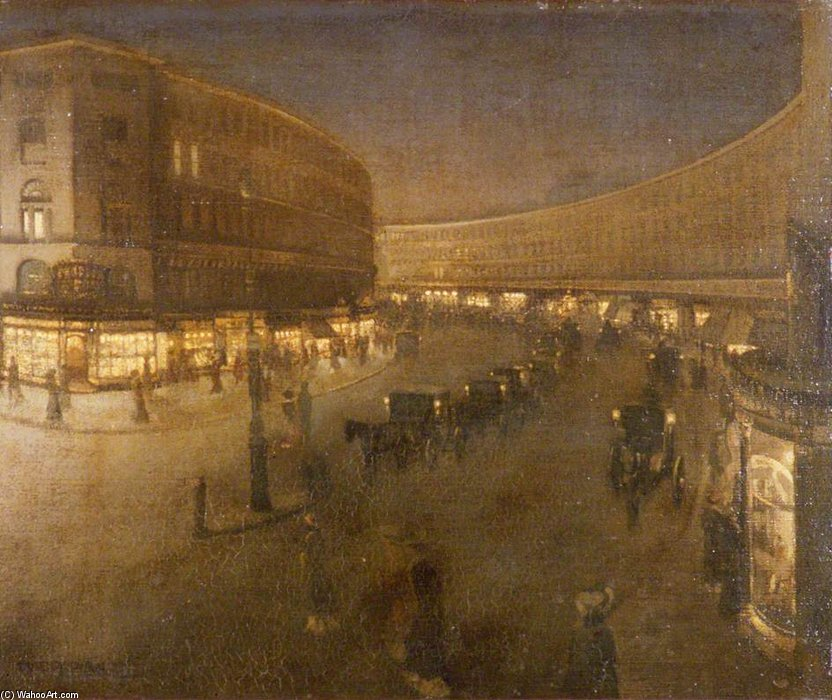 Regent Street di William Newenham Montague Orpen (1878-1931, Ireland)