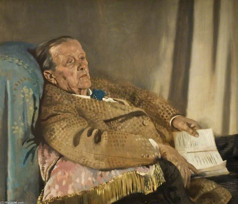 Sir Edwin Ray Lankester di William Newenham Montague Orpen (1878-1931, Ireland)
