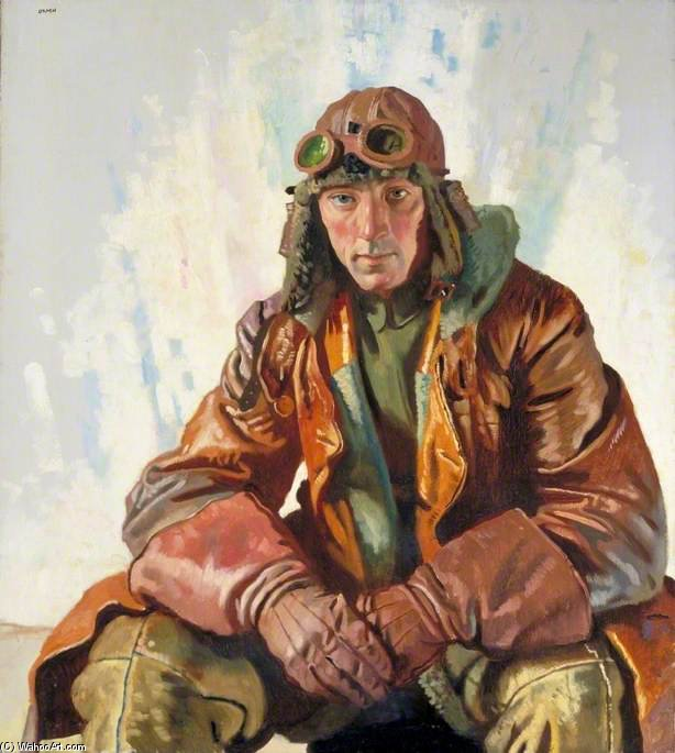 Il sottufficiale pilota, Royal Flying Corps di William Newenham Montague Orpen (1878-1931, Ireland)