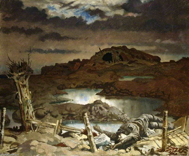 Zonnebeke di William Newenham Montague Orpen (1878-1931, Ireland)