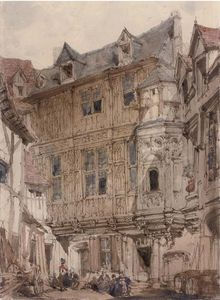 Joseph Nash The Younger - Backstreets di Rouen