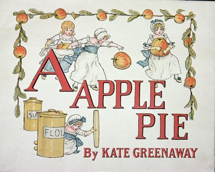 Ordinare Stampe D'arte Su Tela : Illustrazione Per La lettera A da Apple Pie di Kate Greenaway (1846-1901, United Kingdom) | ArtsDot.com