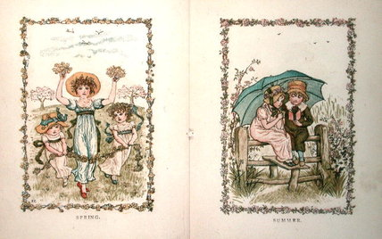 primavera e estate di Kate Greenaway (1846-1901, United Kingdom)