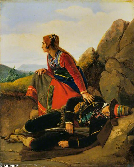 Il Brigand Asleep di Louis Léopold Robert (1794-1835, Switzerland)