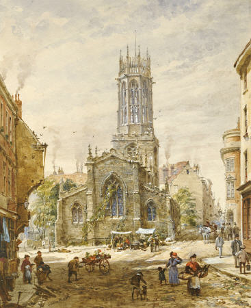All Saints Marciapiede, York di Louise Rayner (1832-1924, United Kingdom)