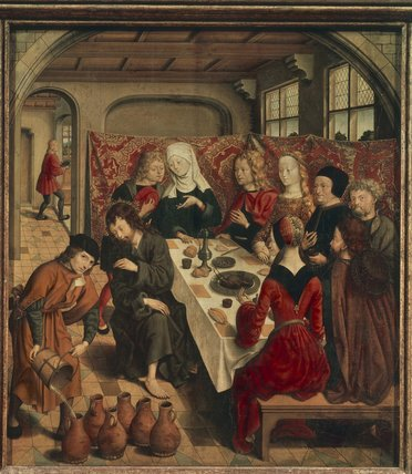 Nozze di Cana di Master Of The St Bartholomew Altar (1450-1510, Germany)
