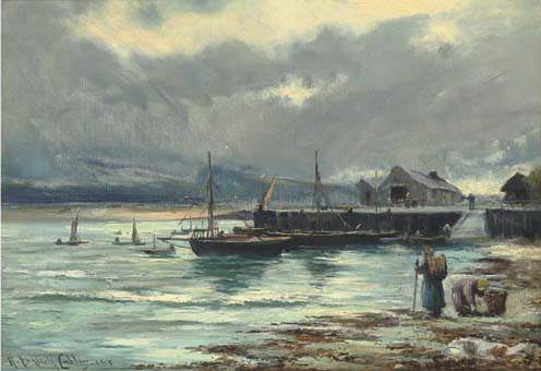 Il Porto Barmouth di Henry Hadfield Cubley (1858-1934, United Kingdom)