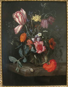 Jacob Van Walscapelle - fiori in a vaso