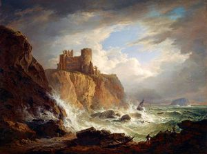 Alexander Nasmyth - Una veduta del Castello di Tantallon With The Bass Rock