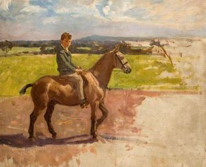 Algernon Talmage - Boy On Pony