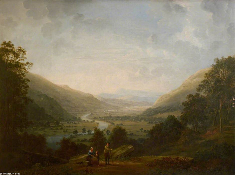 Valle Langdale Con Il Fiume Brathay di Anthony Devis (1729-1816, United Kingdom)