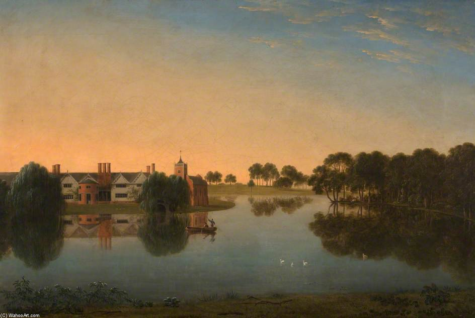 Tabley - The Old Hall Across The Mere di Anthony Devis (1729-1816, United Kingdom)