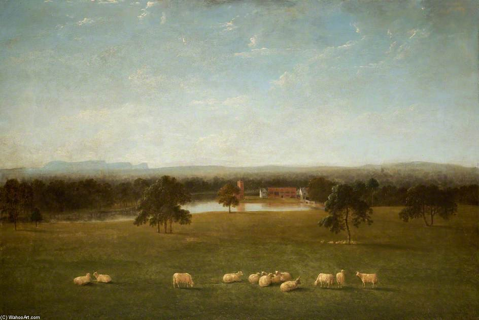 Tabley - il vecchio Hall dal Parco di Anthony Devis (1729-1816, United Kingdom)