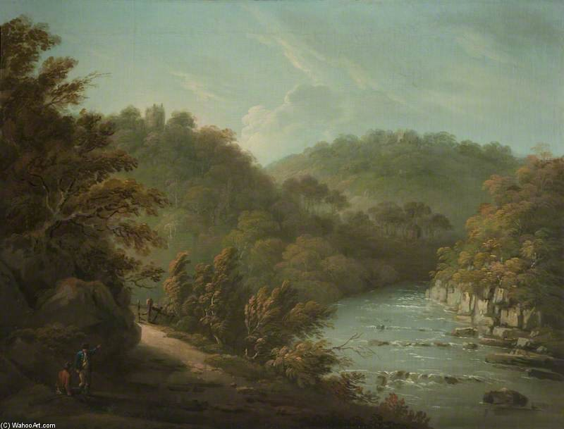 Il Fiume Ure A Hackfall, vicino Ripon, West Riding of Yorkshire di Anthony Devis (1729-1816, United Kingdom)
