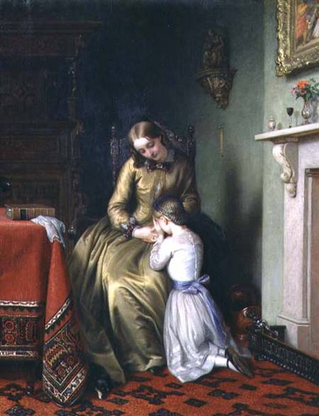 Prayertime di Charles West Cope (1811-1890, United Kingdom)
