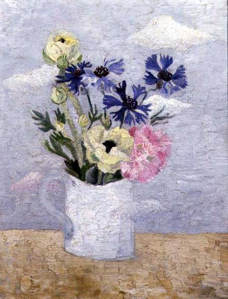 fiori in un Bianca  boccale  di Christopher Wood (1901-1930, United Kingdom)