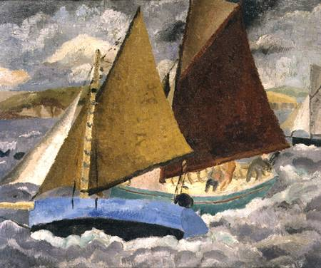 Yacht Race a portscato , Cornwall di Christopher Wood (1901-1930, United Kingdom)