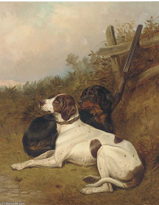 English Pointers di Colin Graeme Roe (1858-1910, United Kingdom) | ArtsDot.com