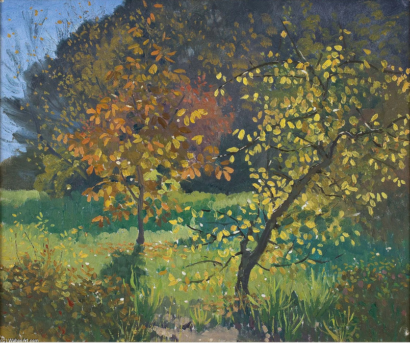 Autunno, Manar di Elioth Gruner (1882-1939, New Zealand)