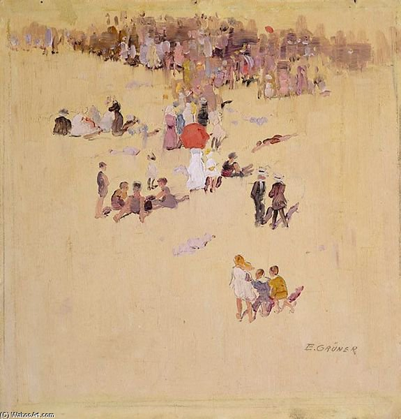 Bondi Beach di Elioth Gruner (1882-1939, New Zealand) | ArtsDot.com