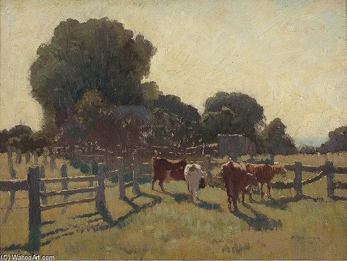 Mattina Frosty di Elioth Gruner (1882-1939, New Zealand) | ArtsDot.com