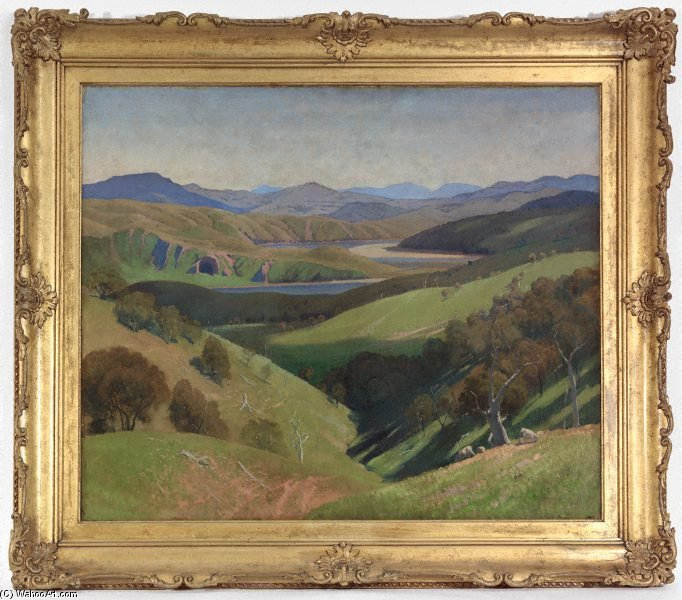 On The Murrumbidgee di Elioth Gruner (1882-1939, New Zealand) | ArtsDot.com