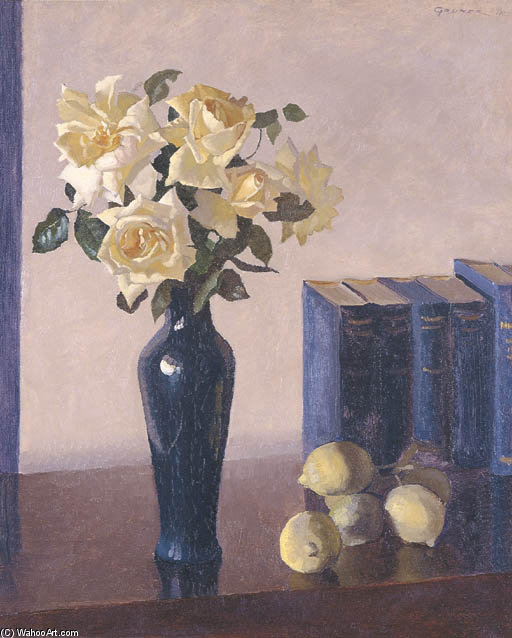 rose gialle di Elioth Gruner (1882-1939, New Zealand)