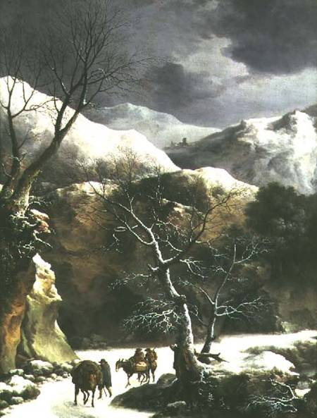 winter_landscape_pair_81020_hi di Francesco Foschi (1710-1780, Italy)