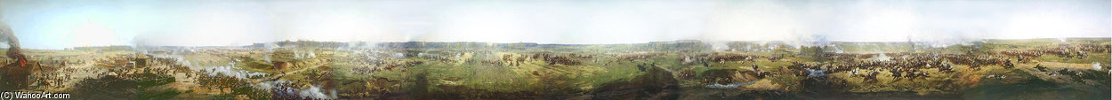 Panorama Of Moscow Battle di Francois Flameng (1856-1923, France)