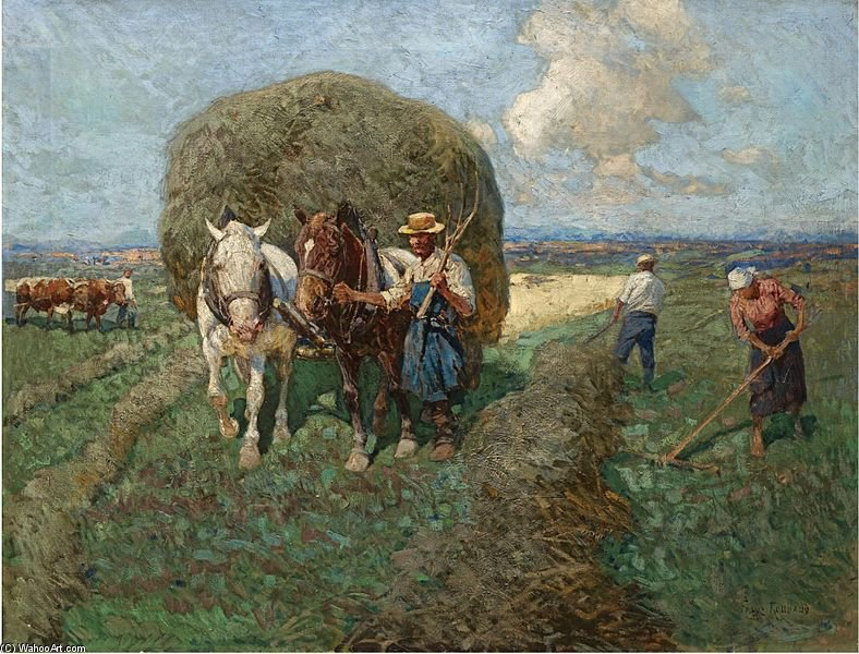 The Hay Carta di Francois Flameng (1856-1923, France)