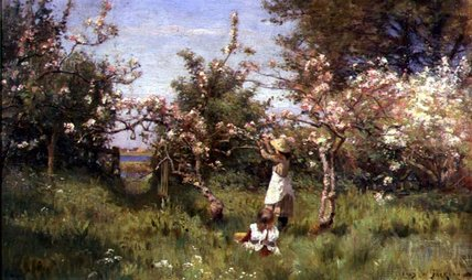Gathering Blossom di Frederick William Jackson (1859-1918, United Kingdom)