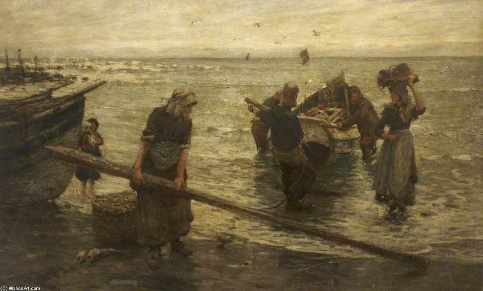 Tornando con il pescato di Frederick William Jackson (1859-1918, United Kingdom)